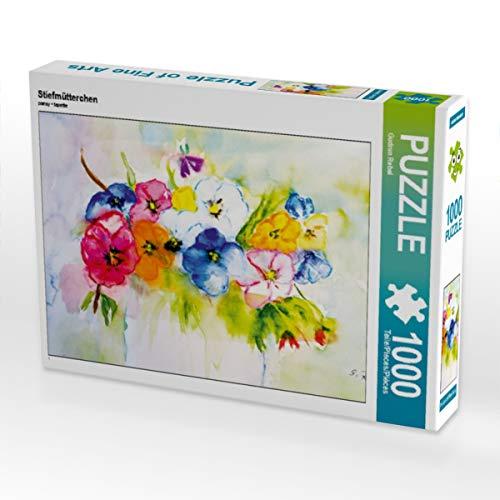 CALVENDO Puzzle Stiefmütterchen 1000 Teile Lege-Größe 64 x 48 cm Foto-Puzzle Bild von Gudrun Rebel