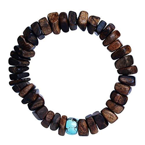 Tbagem-Yjr avec Bracelet Bois D'agar Type Unisexe, Mala Bracelet Wristband Rosaire Perles Méditation