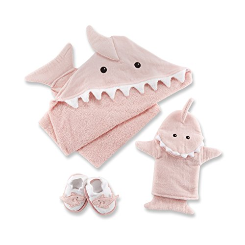 Baby Aspen 4 de bain temps Ensemble cadeau (Let the fin begin, Rose)