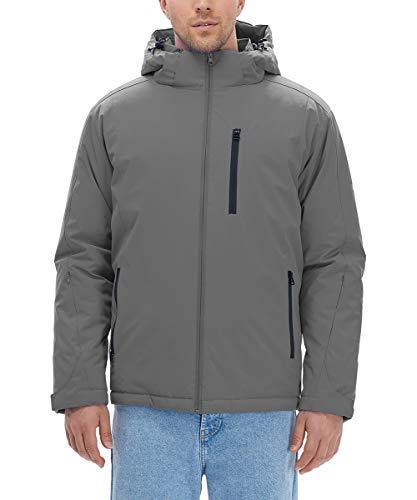 HLTPRO Jacke Herren Winter - Outdoor Softshelljacke Wander Ski-Jacken Sport Outdoorjacke (M, Dunkel Grau)