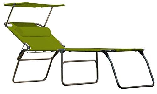 Sun-amigo fourty chaise longue avec auvent protégeant du soleil-pistache