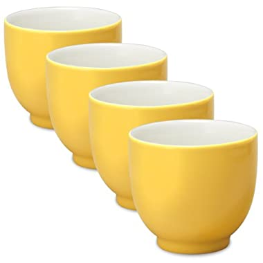 FORLIFE Q Tea Cup (Set of 4), 7 oz., Mandarin