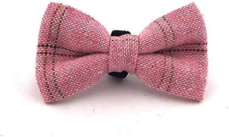 Dark Green HUGO /& HUDSON HHBOW10027-L Checked Tweed Dog Bow Tie Large