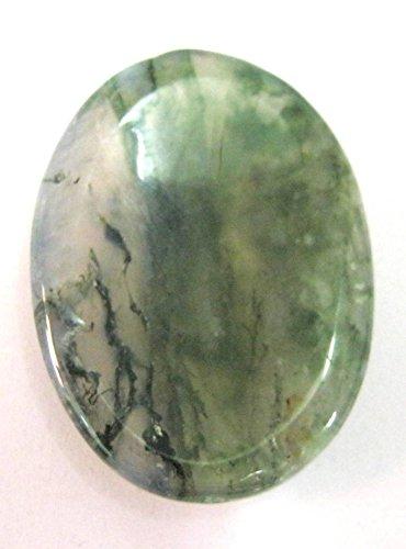 Hermosa musgo ágata Worry Piedra Cristal Curación Positiva Energía Hombres Mujeres Regalo Gemstone potente pulgar piedras metafísica Meditación Reiki Feng Shui