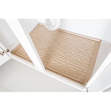 Xtreme Mats Under Sink Bathroom Cabinet Mat, 27 5/8 X 18 7/8, Beige