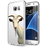 Samsung Galaxy S7 Edge Case,Goat Case for Samsung Galaxy S7 Edge,Goat Pattern Design Crystal Clear Protective Case
