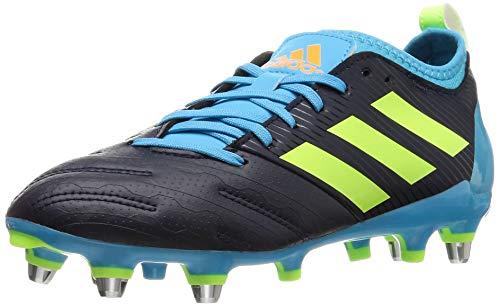 adidas Malice Elite (SG), Stivali da Rugby Uomo, Blu Scuro, Verde, Ciano (Tinley Versen Ciasen), 42 EU