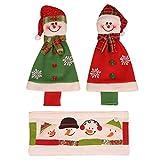 Materiale principale: panno Dimensioni: Come le immagini mostrano Numero di PC: 3PCS, 4PCS Tema: le vacanze Occasione: Natale, Capodanno, Festa