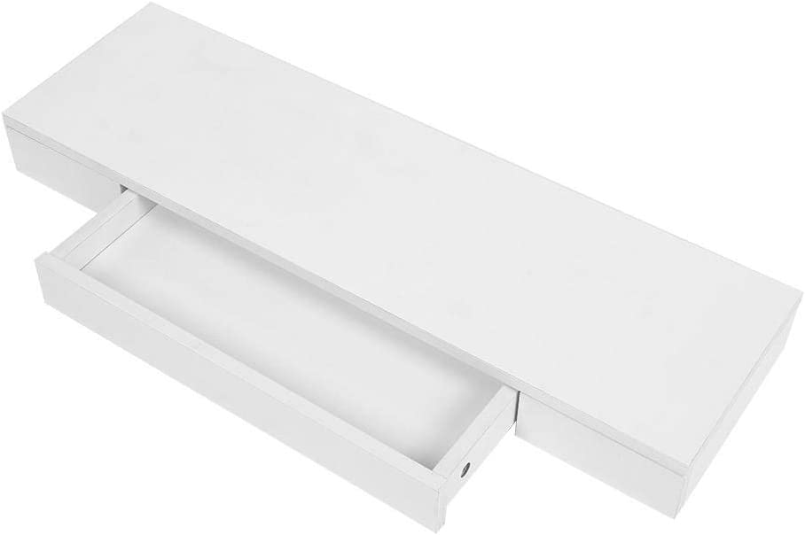 Floating Wall Shelf with Drawer Max 66% OFF White Shelves Rustic Finally popular brand Wood