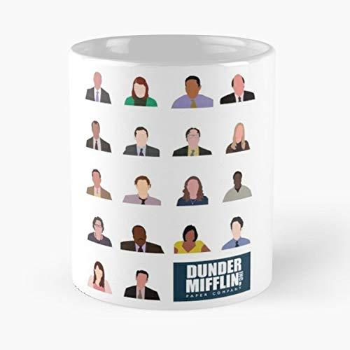 The Office Dunder Mifflin Michael Scott Jim Halpert Dwight Schrute Pam Beasley - Best 11 Ounce Ceramica Coffee Mug Gift