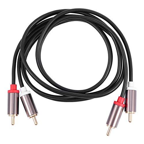 MILISTEN 2 Rca a 2 Rca Cable Macho Adaptador de Audio Estéreo Cable Coaxial para Sistemas de Alta Fidelidad Subwoofer Home Theater 1 Metro