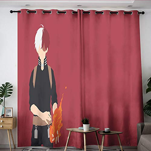 Elliot Dorothy My Hero Academia Cartoon Comic Anime Thermal Insulated Darkening Curtains Kids Decor Patterned Curtains Room Darkening Wide Curtains for Bedroom Living Room Kitchen W42 x L72