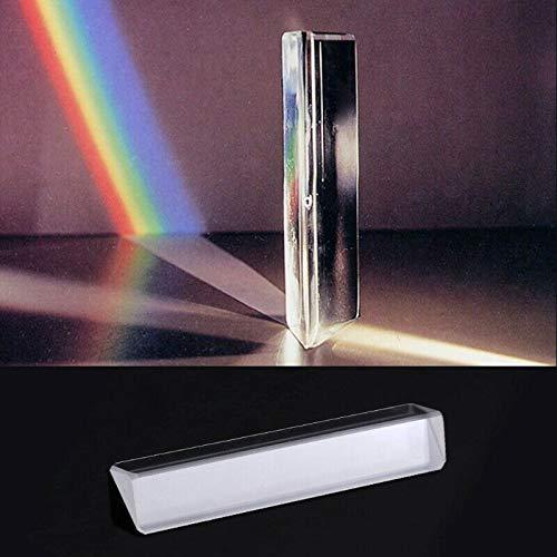 PA Products 8 cm optisches Glas Dreifach dreieckig Prisma Physik Lehrlicht Spektrum