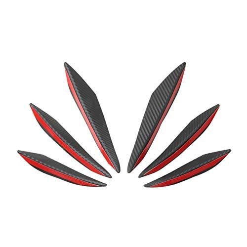 Labios Canards,Spoiler Canards 6 unids/set Universal Car Frontal Side Aletas de parachoques de ala de viento Hobe Spoiler Air Cuchillo Spoderer Carbon Fibra (Color : Carbon fiber)