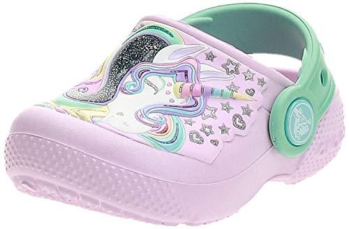 Crocs Fun Lab Clog K, Zoccoli Unisex-Bambini, Rosa (Ballerina Pink/New Mint), 23/24 EU