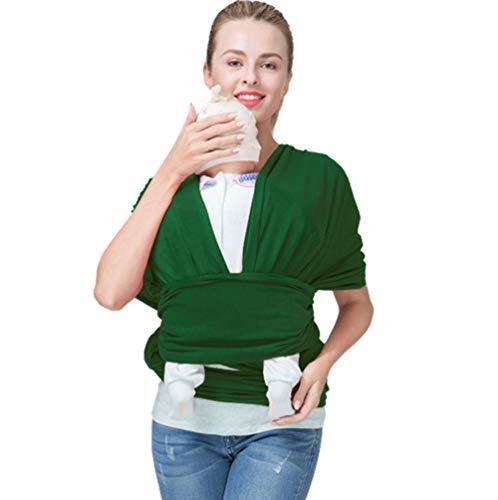 ACEDA Wickeltasche für Neugeborene + Kleinkinder, weich, ideal zum Tragen, Stillen, Dunkelgrün