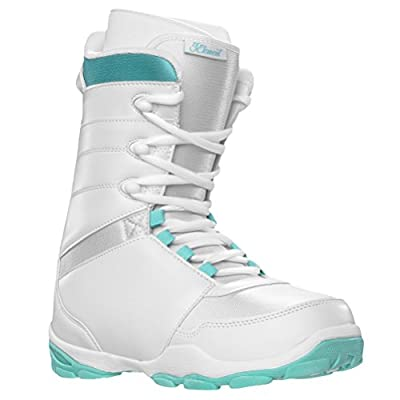 5th Element L-1 Womens Lace Up Snowboard Boots White and Teal