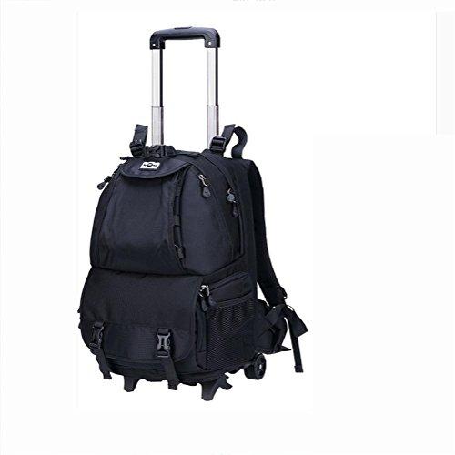 Multifunktion Kamera / Laptop Rucksack /backpack 4-Rad-Riemenscheibe 360 ° drehung , black