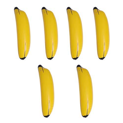STOBOK Banana Gonfiabile 6 Pezzi per Decorazioni per Feste Hawaii Luau Party Sfondo