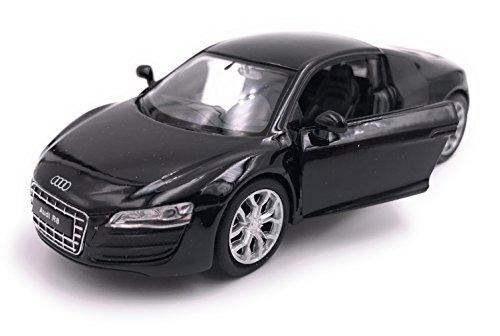 H-Customs R8 Sportwagen Modellauto Auto Lizenzprodukt 1:34-1:39 Schwarz