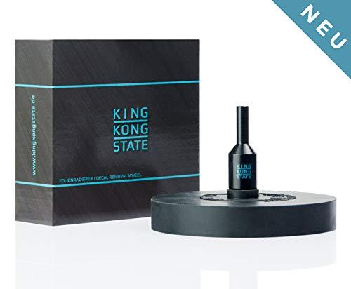 King Kong State ® Folienradierer zum Entfernen von Folien und Aufklebern - schwarze Radierscheibe für Akku-Bohrmaschinen