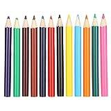 12 piezas de lápices de colores, mini lápices de colores para dibujar, lápices de colores portátiles para escribir, dibujar y dibujar, lápiz