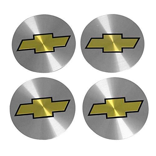 Tapas Para Llantas 56mm Cajas de ruedas de automóvil central Caps Pegatina Compatible con Chevrolet Cruze Malibu Trax Camaro Lacetti Aveo Cobalt Sail Captiva Epica Calcomanía Insignia del emblema
