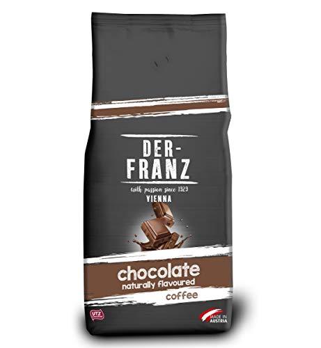 Der-Franz Kaffee, Mischung aus Arabica und Robusta, geröstet, ganze Bohne aromatisiert mit natürlicher Schokolade UTZ, 1000g
