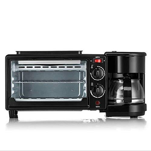 Riyyow Máquina Multifuncional de Desayuno del Horno de 3 en 1 Tostador, café, tostadora, Horno, Horno de 30 Minutos, para Pan, panecillos, Galletas, Pizza, paninis