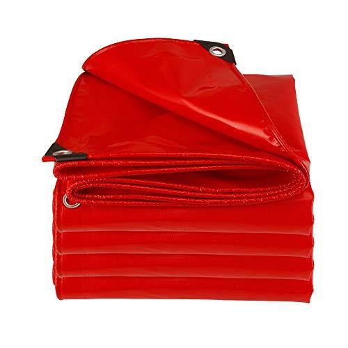 CDWJFA-Ojales Reforzados, Lona Impermeable, Cobertizo Rojo, Cuchillo Protector Solar para Boda Que Raspa Tela, Impermeable Cortina Aislamiento Camión, Adecuado para Actividades Aire Libre. 500g/㎡
