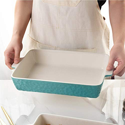 Baking Dishes, Krokori Rectangular Bakeware Set Ceramic Baking Pan Lasagna Pans for Cooking, Kitchen, Cake Dinner, Banquet and Daily Use - 13 x 9 Inches