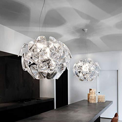 W&HH Postmodern Simplicity Lampada a Sospensione Nordic Lighting Soggiorno Acrilico Lampadario Camera da Letto Sala Studio Ristorante Luce Hope Lampadario LED,70CM