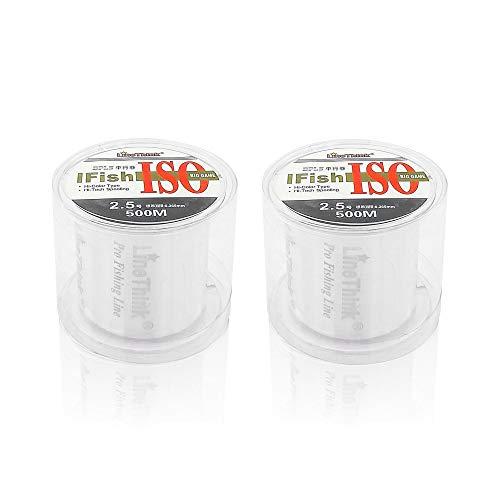 500m 2 piezas Hilo de Abalorios Transparente 0.25mm Alambre de nilón invisible de alambre de pesca fuerte para colgar adornos y coser hobby pulseras fabricación de joyas