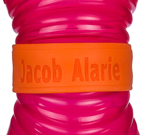 Custom Baby Bottle Labels for Daycare Orange Pink OR Blue 4 Pack Sippy Cup Labels Personalized Bands
