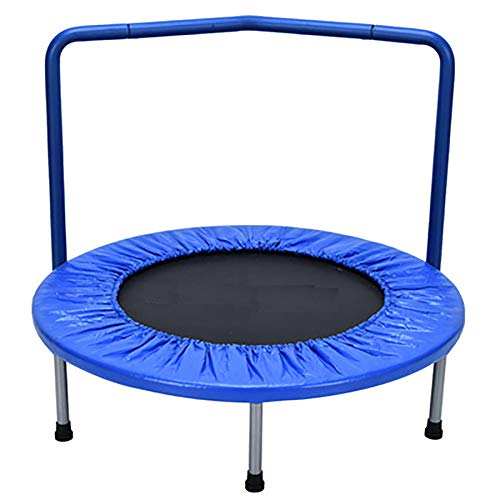XGLL 36' Mini Trampoline for Kids 3-10with Handle Bar and Safety Padded Cover Bungee Rebounder Portable Kids Trampolines Exercise Indoor/Outdoor