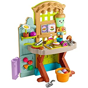 Fisher-Price Laugh & Learn Grow-the-Fun Garden to Kitchen, interactive farm-to-kitchen playset for toddlers with music… - 41fcq2SsqyL - Fisher-Price Laugh & Learn Grow-the-Fun Garden to Kitchen, Interactive Farm-to-Kitchen Playset for Toddlers with Music…