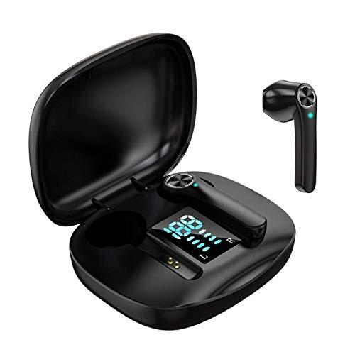 Auriculares Inalámbricos, Auriculares TWS Bluetooth 5.0 con microfono,HiFi Estéreo,Control Táctil,Cancelación de Ruido,IPX6 Impermeable,In-Ear Bluetooth para iOS/Android/Samsung