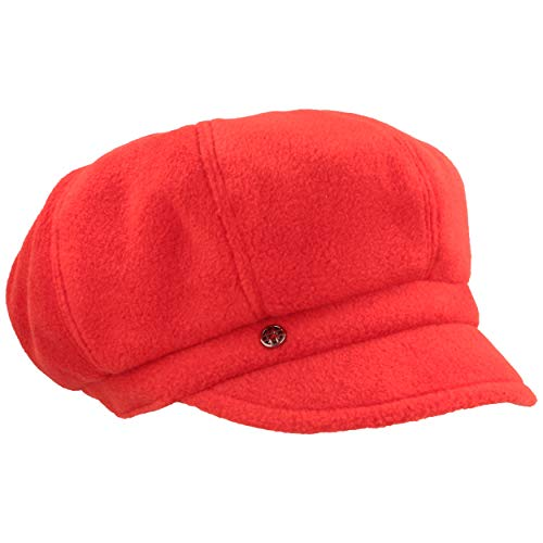 LOEVENICH LOEVENICH Damen Winter-Ballonmütze  Schirmmütze   Winter-Mütze aus warmen Polar Soft Fleece - Knautschbar mit Gummizug (One Size, Feuer)
