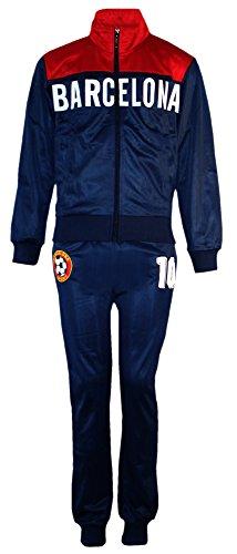 AEL Fußball Trainingsanzug Jungen Top Training Kit Set Farbe: Barcelona Größe: 4 (4-5 Jahre)