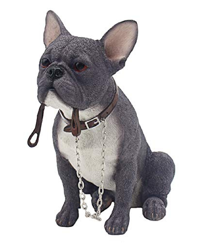 The Leonardo Collection Walkies Range - Blue French Bulldog Dog Ornament