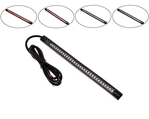 Intermitentes para Moto Secuencial LED Bicolor que Fluye Cola Freno Tiras 200mm