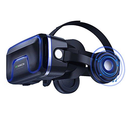 VR-Headset, Virtual-Reality-Headset, VR-Brille, VR-Brille für 3D-VR-Videospiele, kompatibel mit iPh 7/7+/6S/6+/6/5, Samsung, Huawei, Google, Moto und alle Android-Smartphones