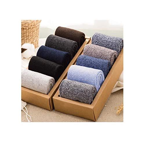 ZHAO ZHANQIANG Winter warm mittleres Alter Vater Superdick Plus Velvet Cotton Männer Langer Winter Thick Terry Alte Socken, (Color : D83)