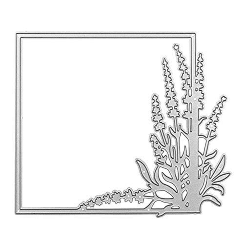 Flower Grass Border Cutting Dies Metal Embossing Stencil Tools, FineGood Die Cutters for Card Making DIY Craft Dies for Die Cutting Scrapbook Album Decoration