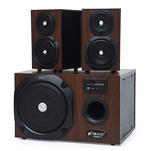 Obage HT-144 100W 2.1 Home Theatre Speaker System with Optical in, Bluetooth 5.0, FM, USB, Aux