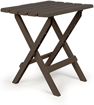 Camco 21048 51886 Mocha Large Adirondack Portable Outdoor Folding Side Table Perfect for The product image