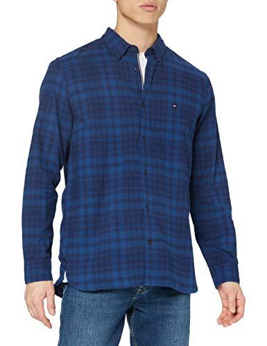 Photo of Tommy Hilfiger Men's Check Shirt, Dark Indigo, XXL