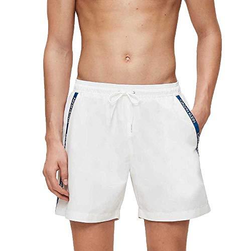 Calvin Klein Medium Drawstring Bañador, Blanco (PVH Classic White 9716280 YCD), M para Hombre