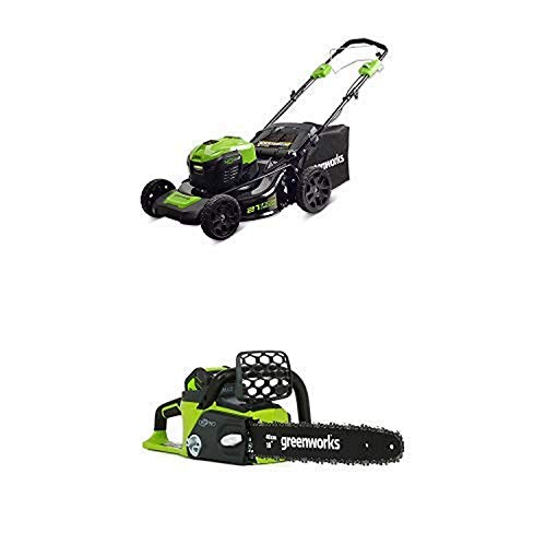 Greenworks 21-Inch 40V Self-Propelled Cordless Lawn Mower with 16-Inch 40V Cordless Chainsaw Battery Not Included 20322 -  Sunrise Global Marketing, LLC
