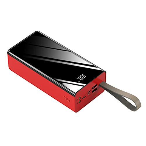 BSTQC 50000mAh Batería externa LED de gran capacidad, puertos de alta velocidad con USB para teléfono móvil